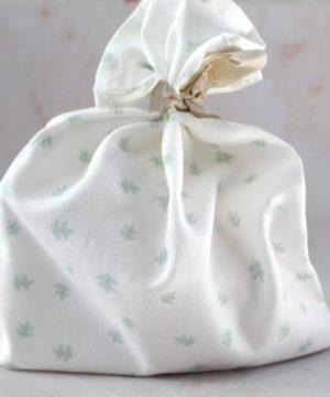 pochon fleur coton bio
