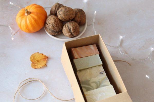 Coffret mini savons + boîte